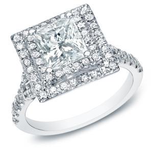 White Gold 2 1/2ct TDW Certified Princess-cut Diamond Ring - Custom Made By Yaffie™