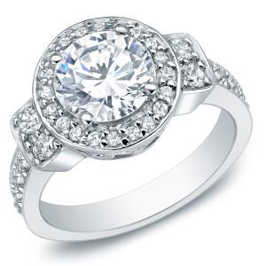 White Gold 2 3/4ct TDW Certified Diamond Ring - Custom Made By Yaffie™