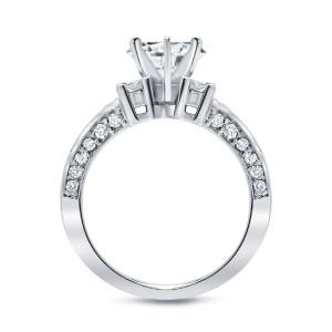 White Gold 2 3/4ct TDW Round Diamond Engagement RIng - Custom Made By Yaffie™