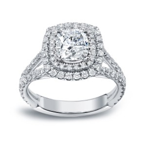 Gold 2 1/4ct TDW Certified Cushion Cut Diamond Engagement Ring - Custom Made By Yaffie™