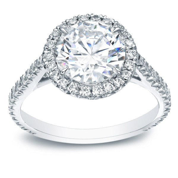 White Gold 1 4/5ct TDW Certified Round Diamond Engagement Ring - Custom Made By Yaffie™