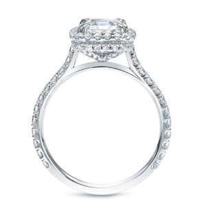 White Gold 2ct TDW Cushion Certified Diamond Engagement Ring - Custom Made By Yaffie™