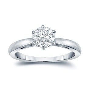 GIA Certified Platinum 6-Prong 1 ct. TDW Round-Cut Diamond Solitaire Engagement - Custom Made By Yaffie™