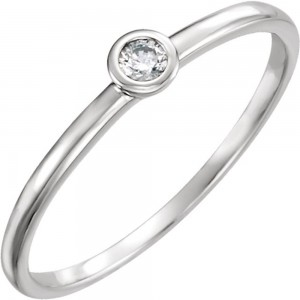 Women's Gold 0.03ct TDW Prong Round Diamond Solitaire Ring - Custom Made By Yaffie™