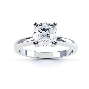 Gold 1/4ct TDW Round Diamond 4-prong Solitaire Engagement Ring - Custom Made By Yaffie™