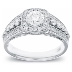 White Gold 0.99ct TDW Diamond Engagement Ring - Custom Made By Yaffie™