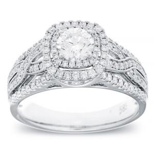 White Gold 1ct TDW Vintage Diamond Ring - Custom Made By Yaffie™