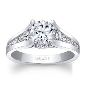 White Gold 1 3/5ct TDW Diamond Engagement Ring - Custom Made By Yaffie™