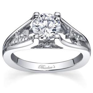 White Gold Diamond Engagement Ring - Custom Made By Yaffie™