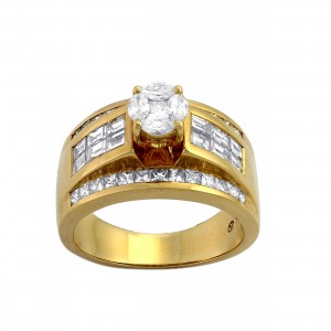 Gold 2 ct TDW Engagement Ring - Custom Made By Yaffie™