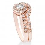 Bliss Rose Gold 1/2ct TDW Diamond Morganite Engagement Ring Set - Custom Made By Yaffie™