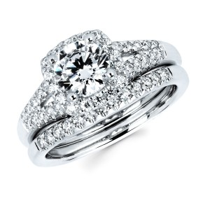 Diamonds White Gold 1 1/2ct TDW Diamond Bridal Set - Custom Made By Yaffie™