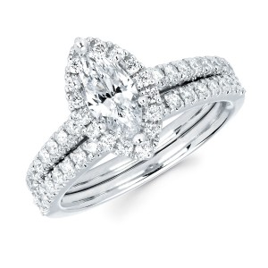 Diamonds White Gold 4/5ct TDW Marquise-cut Diamond Bridal Set - Custom Made By Yaffie™