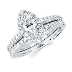 Diamonds White Gold 4/5ct TDW Marquise-cut Diamond Bridal Set - Custom Made By Yaffie™