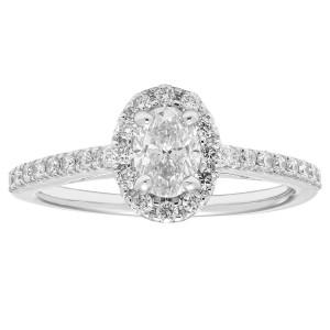 Diamonds White Gold 5/6ct TDW Diamond Halo Ring - Custom Made By Yaffie™
