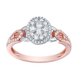 Brand New 0.57 Carat Round Brilliant Cut Natural G-H/SI1 Diamond Engagement Designer Ring - White G-H - Custom Made By Yaffie™
