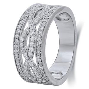 Bridal Symphony White Gold 5/8ct TDW Diamond Anniversary Ring - Custom Made By Yaffie™