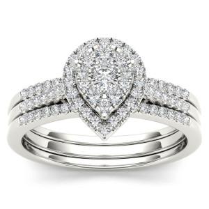 Gold 1/2ct TDW Diamond Bridal Set - Custom Made By Yaffie™