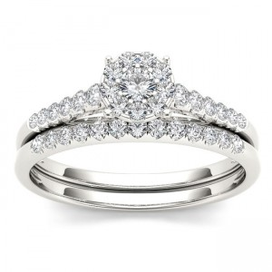 Gold 1/2ct TDW Diamond Wedding Bridal Set - Custom Made By Yaffie™
