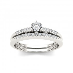 Gold 1/3ct TDW Diamond Bridal Set - Custom Made By Yaffie™