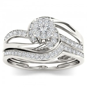Gold 1/3ct TDW Diamond Composite Bridal Sets - Custom Made By Yaffie™