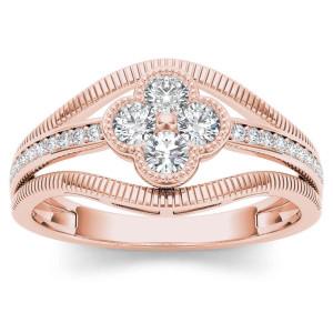 Rose Gold 1/3ct TDW Diamond Fashion Ring - Custom Made By Yaffie™