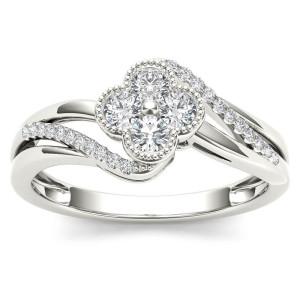 White Gold 1/3ct TDW Diamond Fashion Ring - Custom Made By Yaffie™