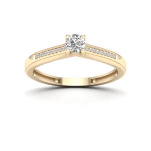 1/10ct TDW Diamond Classic Ring - Custom Made By Yaffie™