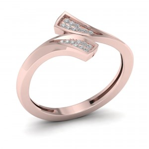 1/20ct TDW Diamond Double Fashion Ring - Custom Made By Yaffie™