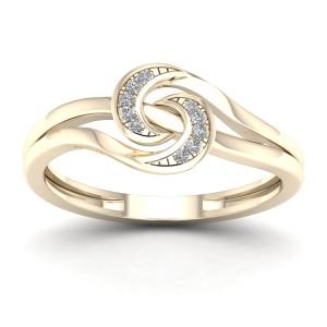 1/20ct TDW Diamond Double Split Shank Fashion Ring - Custom Made By Yaffie™