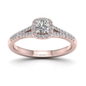 1/2ct TDW Diamond Halo Ring - Custom Made By Yaffie™