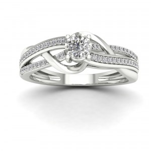 1/4ct TDW Diamond Split Shank Ring - Custom Made By Yaffie™