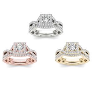 Gold 1ct TDW Princess Diamond Ring - Custom Made By Yaffie™