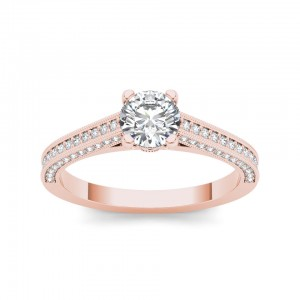 Rose Gold 1 1/4ct TDW Diamond Engagement Ring - Custom Made By Yaffie™