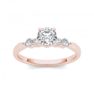 Rose Gold 1/2ct TDW Princess-cut Diamond Classic Engagement Ring - Custom Made By Yaffie™