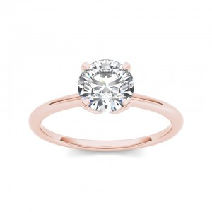 Rose Gold 1ct TDW Diamond Solitaire Ring - Custom Made By Yaffie™