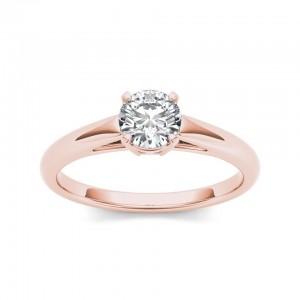 Rose Gold 7/8ct TDW Diamond Classic Engagement Ring - Custom Made By Yaffie™
