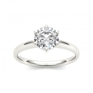 White Gold 1ct TDW Diamond Classic Engagement Ring - Custom Made By Yaffie™