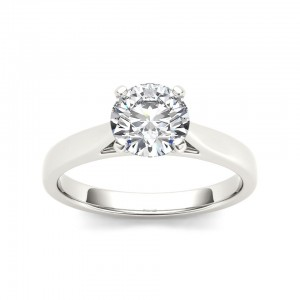 White Gold 1ct TDW Diamond Solitaire Engagement Ring - Custom Made By Yaffie™