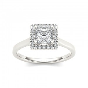 White Gold 1ct TDW Princess Cut Solitaire Diamond Engagement Ring - Custom Made By Yaffie™