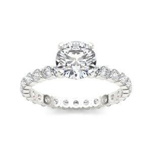 White Gold 2 1/2ct TDW Diamond Engagement Ring - Custom Made By Yaffie™