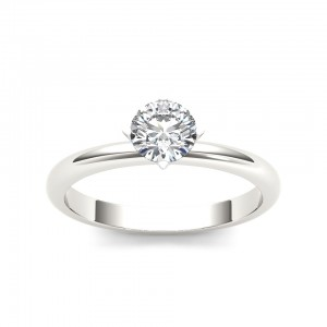 White Gold 3/4ct TDW Diamond Classic Engagement Ring - Custom Made By Yaffie™