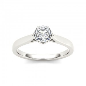 White Gold 3/4ct TDW Diamond Exquisite Engagement Ring - Custom Made By Yaffie™