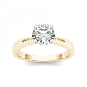 Gold 1ct TDW Diamond Classic Engagement Ring - Custom Made By Yaffie™