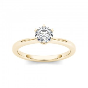 Gold 3/4ct TDW Diamond Classic Engagement Ring - Custom Made By Yaffie™