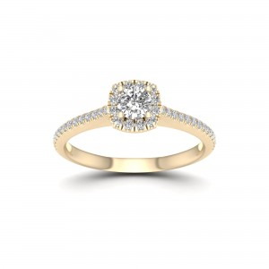 5/8ct TDW Diamond Halo Engagement Ring - Custom Made By Yaffie™