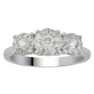White Gold 1ct TDW Diamond Unity Ring - Custom Made By Yaffie™