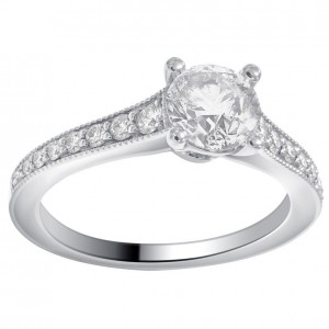 White Gold 1 5/8ct TDW Diamond Engagement Ring comes in a box. G-H/SI-I1 - Custom Made By Yaffie™