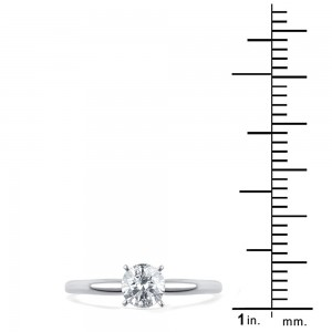 Gold 1/2ct TDW Diamond Solitaire Engagement Ring - Custom Made By Yaffie™
