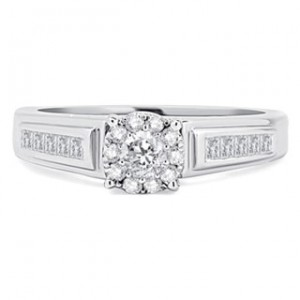 White Gold 1/2ct TDW Diamond Solitaire Unity Ring - Custom Made By Yaffie™